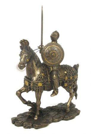 Lovas lovag szobor