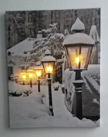 Tél világító kép