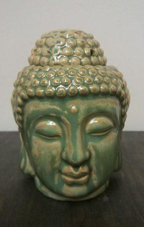 Buddha fej párologtató /kopott_zöld/