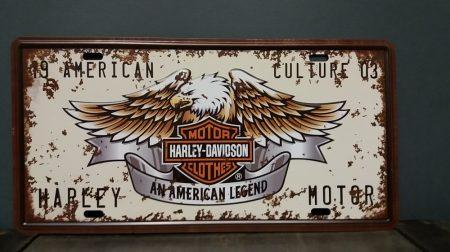 fém kép /Harley- Davidson/