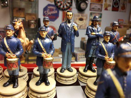 Amerikai polgárháború sakk készlet