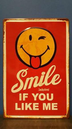 Fém kép /smile/