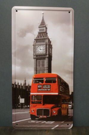 Fém kép /London/ 30x16cm