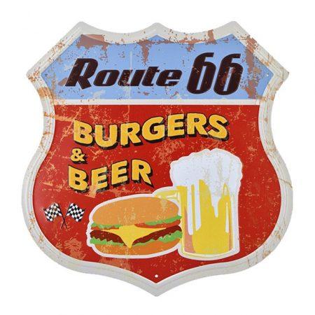 fém kép route 66 hamburger