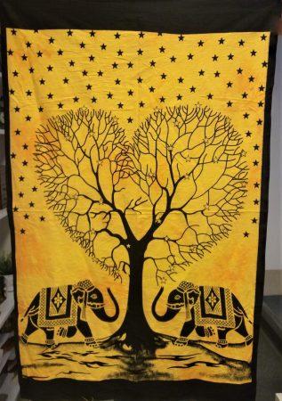 Elefántos textil falikép