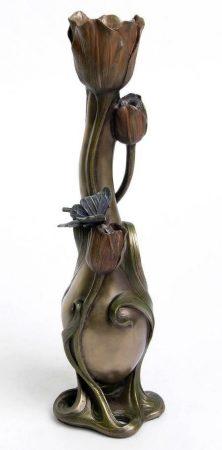 Tulipános lepkés váza #