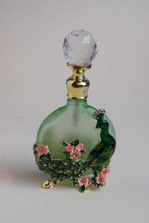 Pávás kis parfümtartó