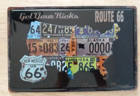 fém kép route 66 USA