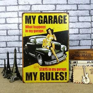 fém kép my garage r..
