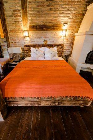 Indiai ágytakaró narancs