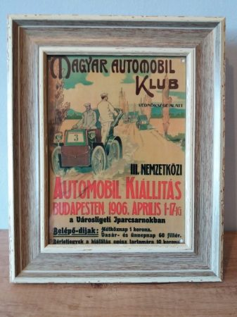 Magyar automobil klub kép keretben