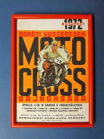 Motor cross 1973 Budapest keretezett kép