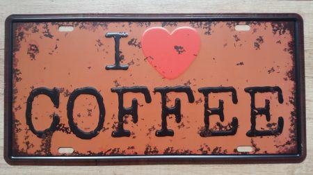 Fém kép : love coffee