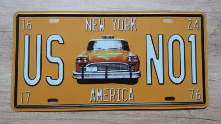 Fém kép: New York taxi