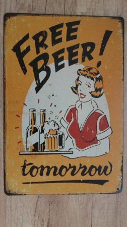 fém kép: free beer