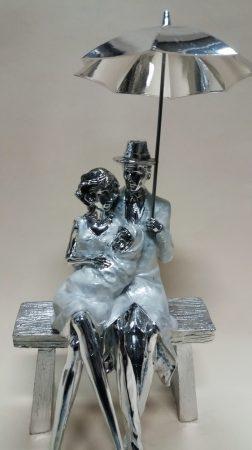 Szerelmespár szobor 4