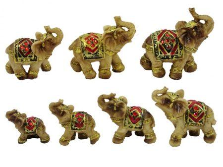 7 elefánt kisszobor