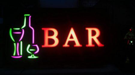 Bar világító tábla