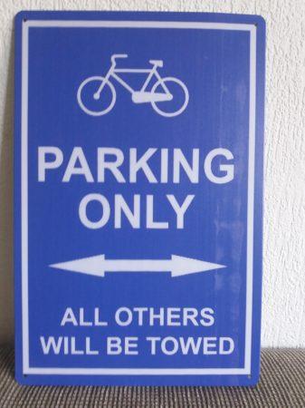 fém kép: only parking /kerékpár/