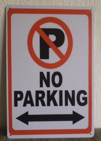 fém kép: no parking
