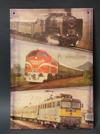 """A síneken"" vonatos kép"