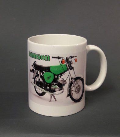 Zöld Simson motor pohár