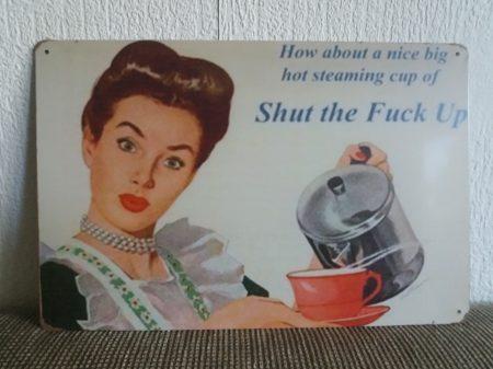fém kép: shut the fuck up