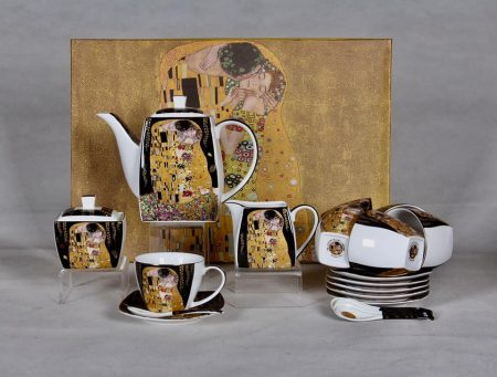Klimt nagy teás szett díszdobozban