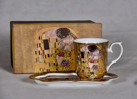 Klimt pohár széles alátéttel