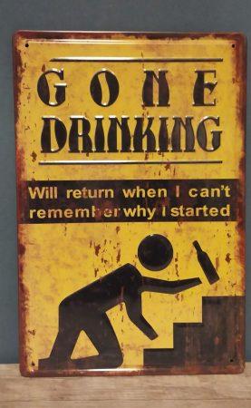 fém kép: Gone drinking