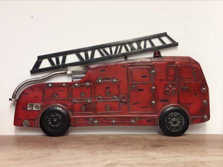Tűzoltó fém fali dísz 4