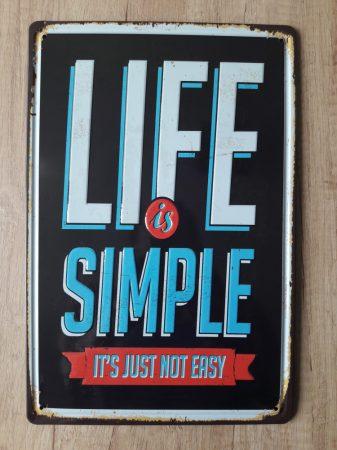 Fém kép: Life is simple it's just not easy
