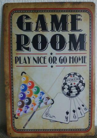 fém kép: game room