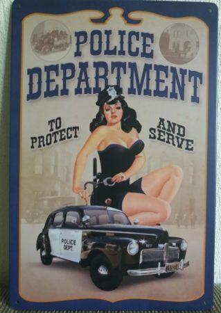 fém kép: police department
