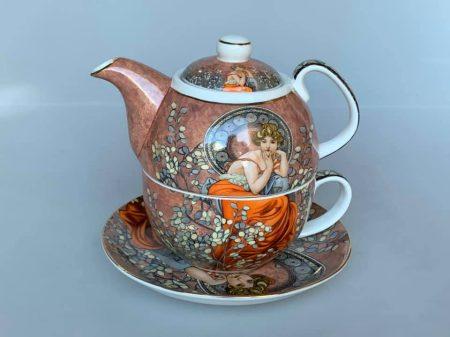 Mucha teás kiöntő és csésze