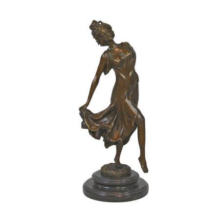 Nőalak bronz szobor