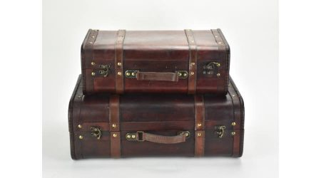 2 decor fa bőrönd