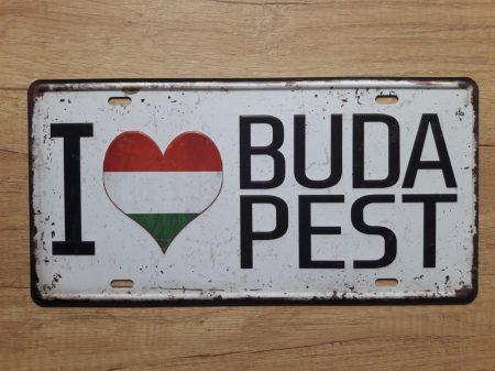 fém kép: I love Budapest