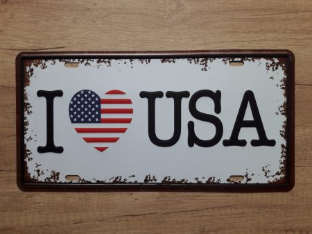 fém kép: I love USA