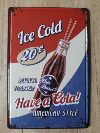 fém kép: Ice cold - have a cola!