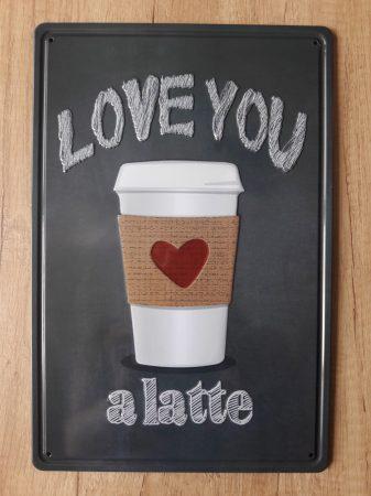 fém kép: Love you a latte