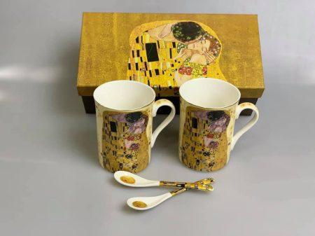 Klimt teás pohár 2 db. díszdobozban