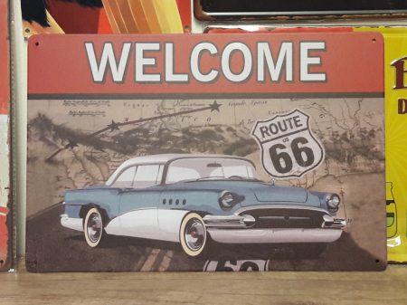 Fém kép: Route 66 welcome