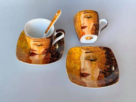 Klimt kávés szett díszdoozban