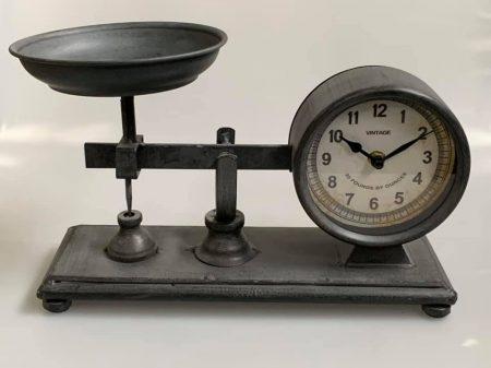 Mérleg formájú asztali óra