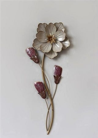 Fém fali dísz: virág