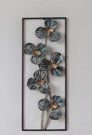 Fém fali dísz: virágok
