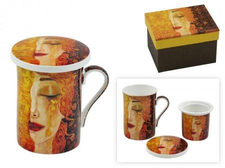 Klimt teás pohár szűrővel