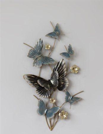 Fém fali dísz: pillangók 2.