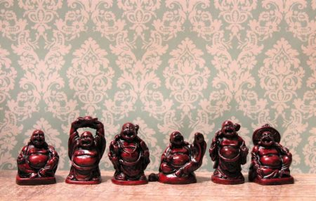6 Kis Buddha szobor